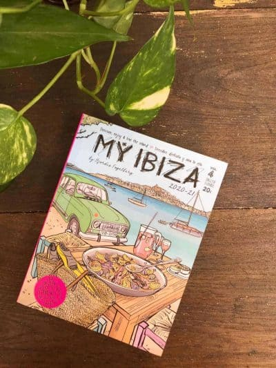 a local guide book about the island of Ibiza