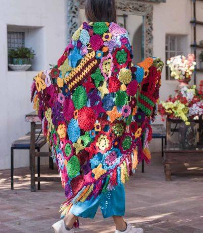 hand crocheted shawl