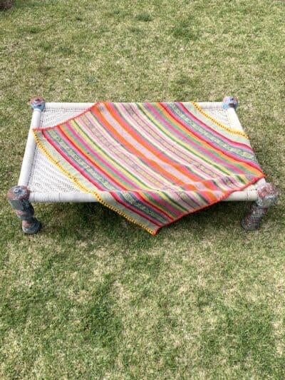 striped peruvian frazada