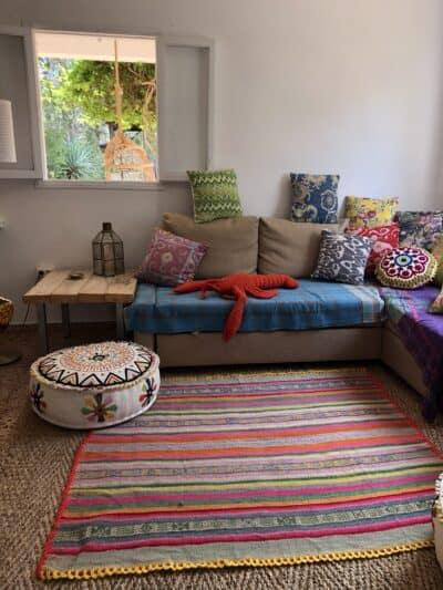 frazada used as a rug
