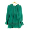 green tunic with romanian lace detail