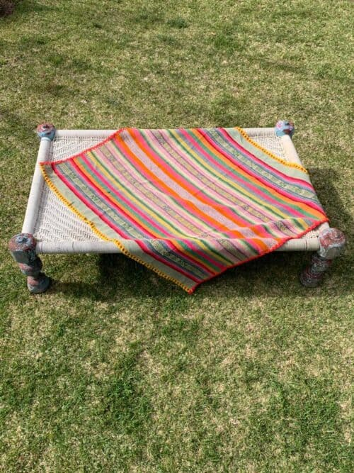 striped blanket rug