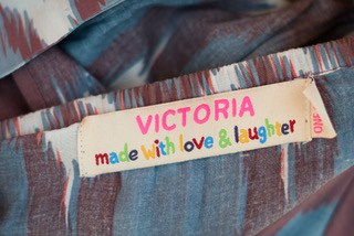 made with love and laughter label