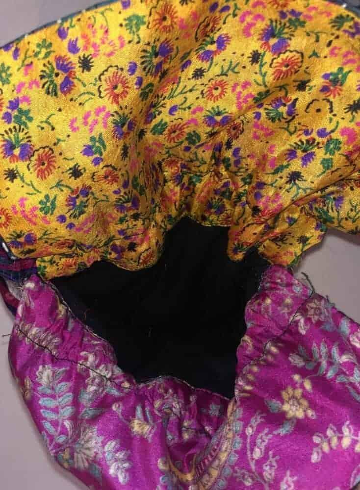 silk patchwork bag by SEWA