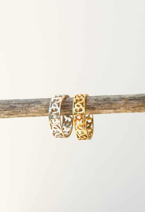 om band rings in silver and gold