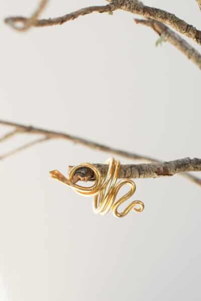 silver gold plated snake ring