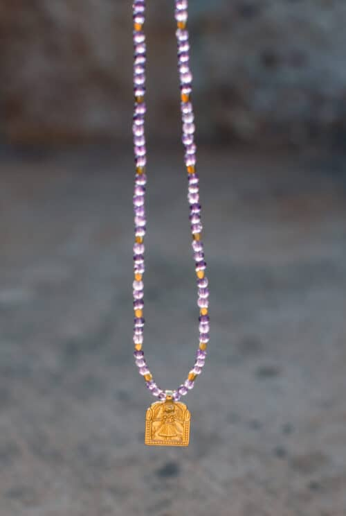 Domestic Goddess Necklace with amethysts