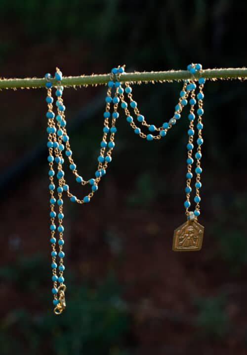 silver gold plated charm necklace