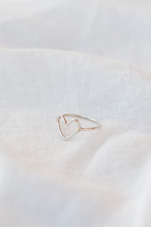heart ring in silver