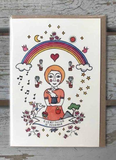 Bea Poggio Greetings Card