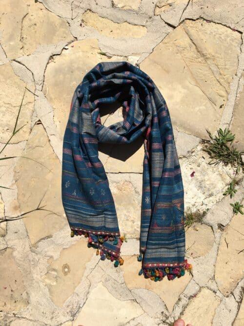 wild silk hand woven scarf