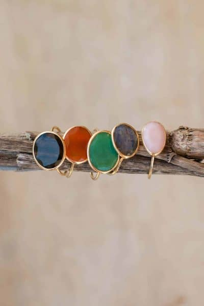 gold wire rings with gemstones
