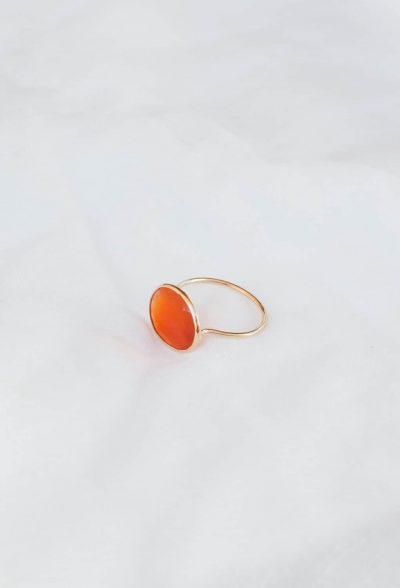 carnelian gold wire ring