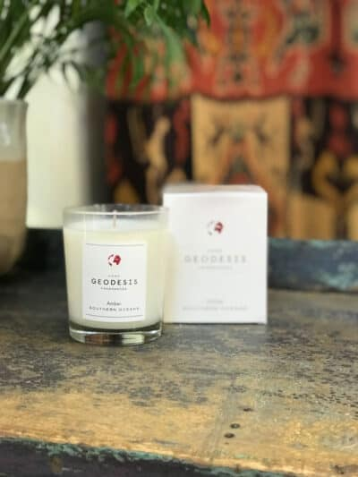 Amber Geodesis Scented Candle