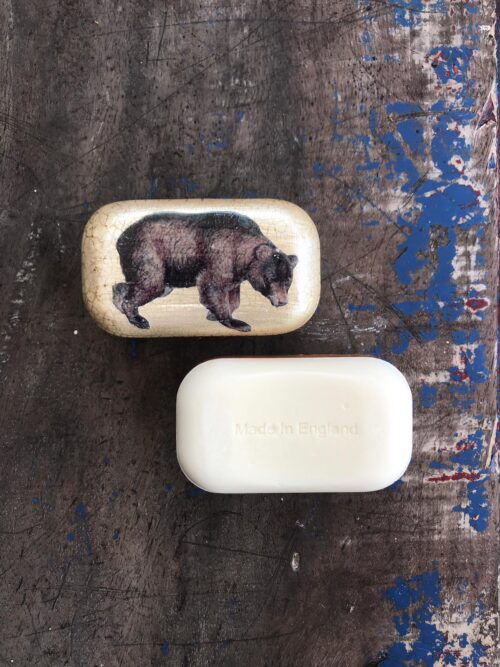 bear on a soap