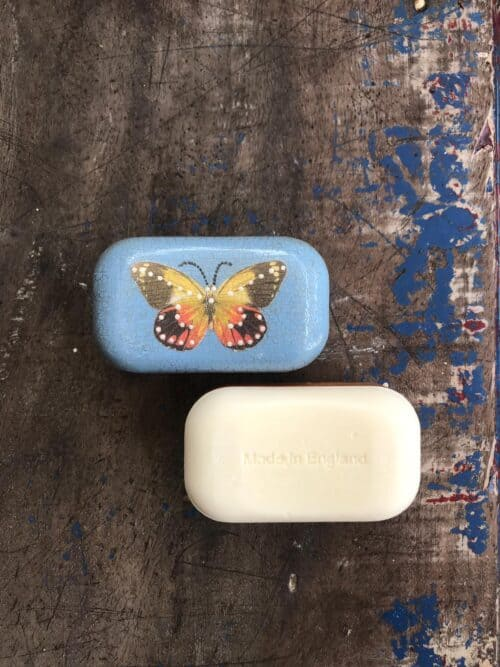 soap with a butterfly