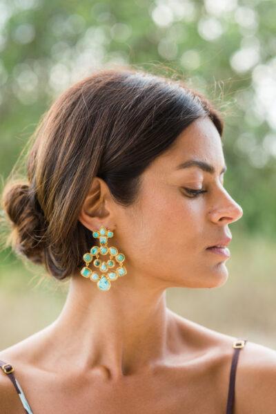 turquoise dangly earrings