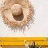 Frayed sun hat