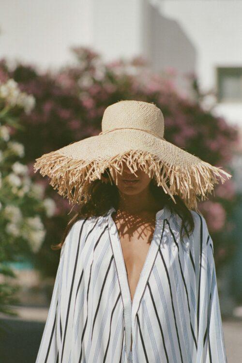 Frayed Straw Hat