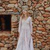 bohemian dress with blouson sleeves