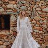 floor length cotton dress