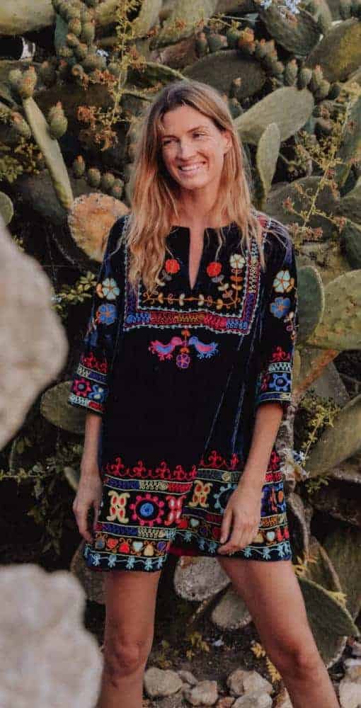 multi coloured embroidery