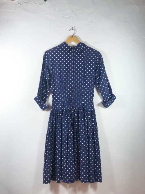 knee-length polka dot dress