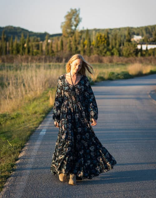 long sleeved maxi dress