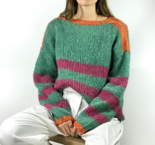 striped jumper in mohair