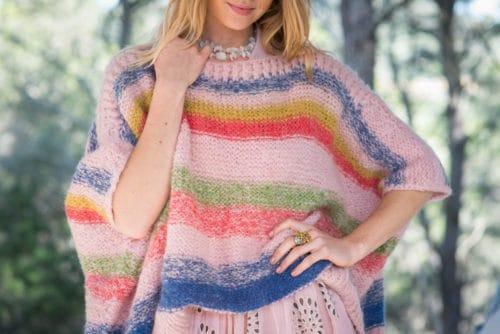 pink stripey jumper