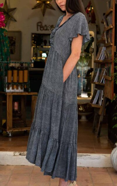 floaty v neck dress with pockets