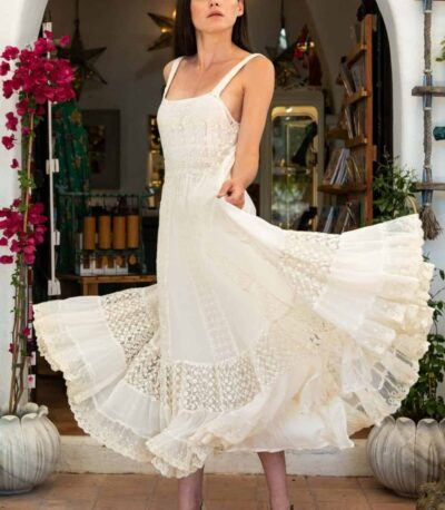 silk georgette and lace dress