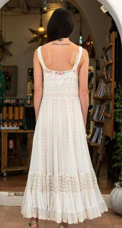 georgette lace dress
