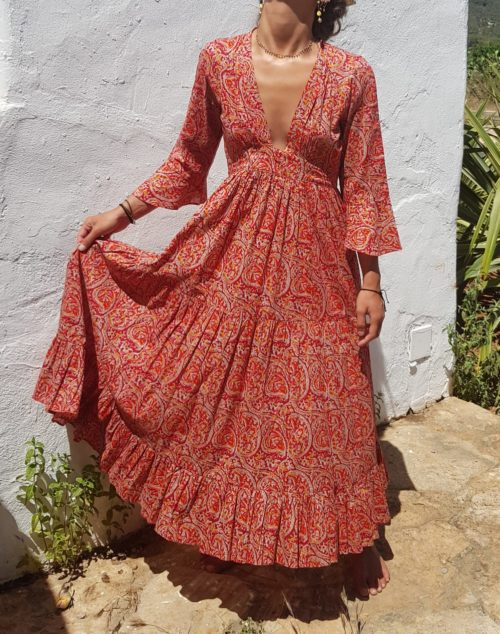 boho cotton dress